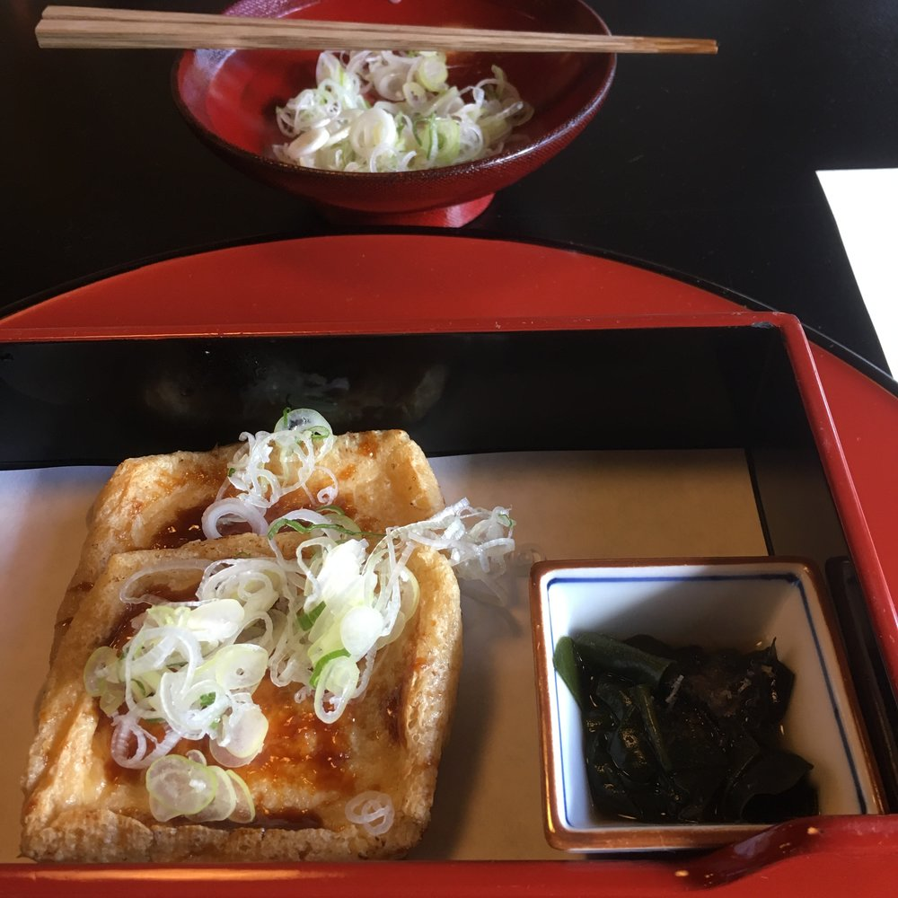 Deep fried tofu with miso