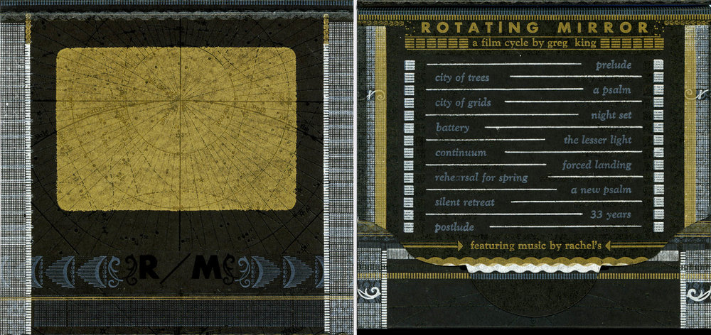 The DVD of Rotating Mirror, featuring a custom designed letterpress package by Brady Vest at  HAMMERPRESS