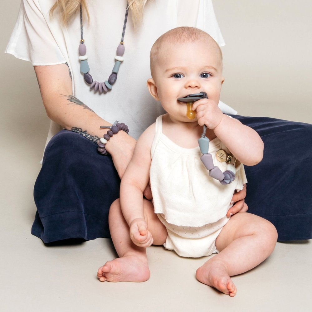 Pewter Signature Teething Necklace