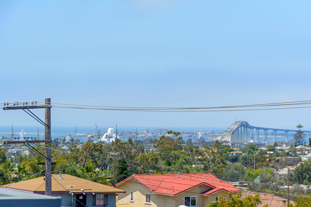Views to the water, Coronado Bridge and downtown from your private roof top deck