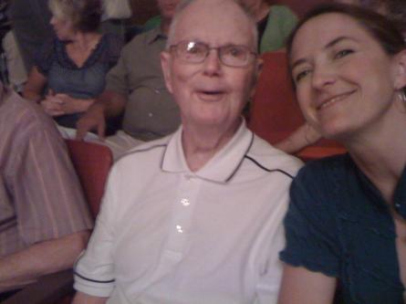 Me and G-Pa P last summer when he begrudgingly let ME treat HIM to a big band concert. Best $20 I ever spent.