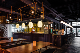 The Fat Pig By The Firm Michaelis Boyd Exposes The Conduit Routed Across  The Space And Around The Fixtures.