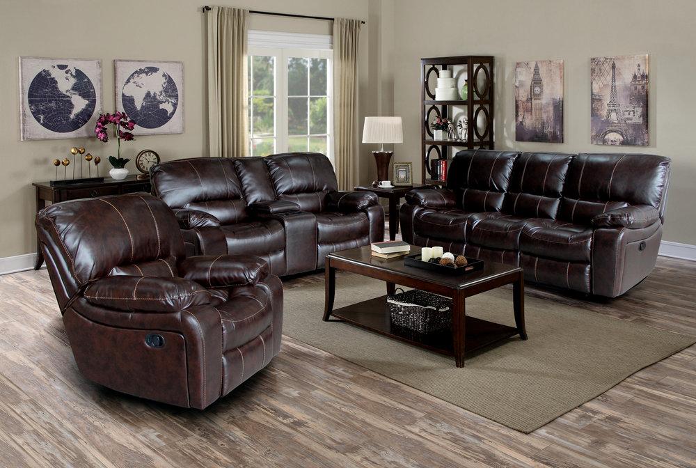 Plush Recliner. Bonded Leather Plush Recliner Sofa ...