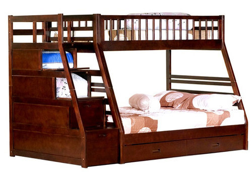 Stairstep Bunk Twin Full Bunk Bed Factory Direct Furniture Store
