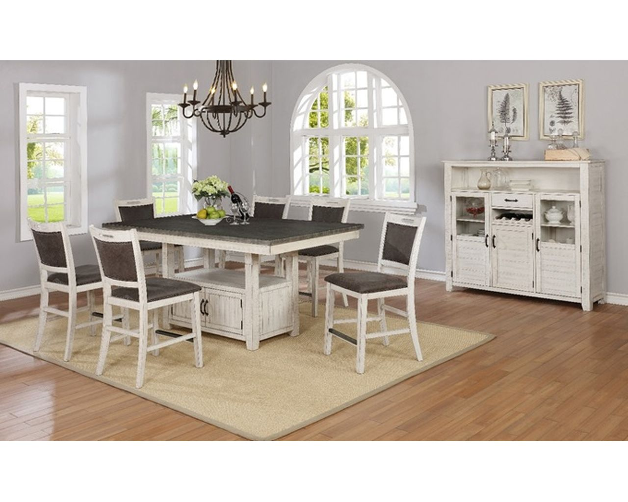 Timberidge Dining Set Gray White Factory Direct Furniture Store America The Beautiful Dreamer
