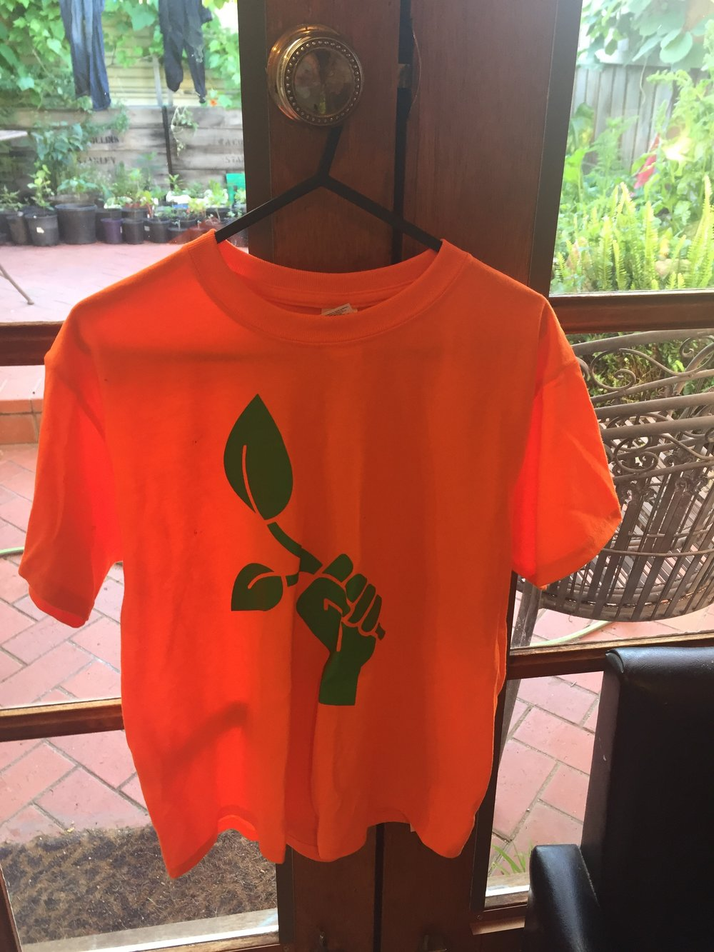 - Fluro T-shirt small sizes only $25 (price includes a $12 donation to UUF)