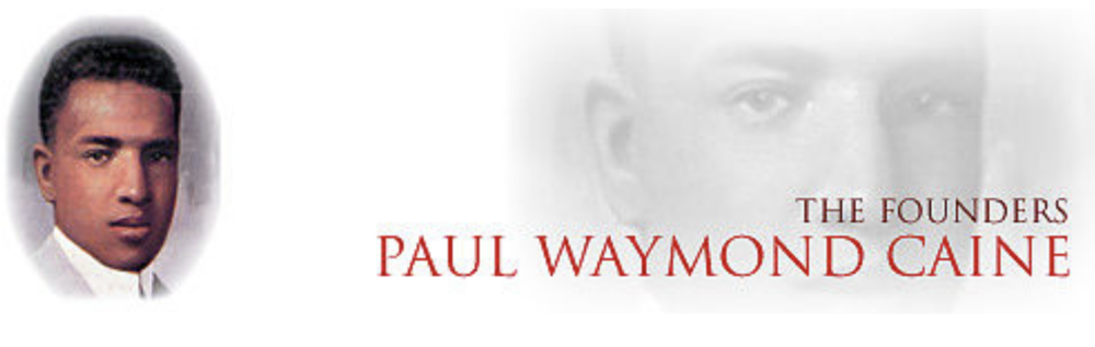 Paul Waymond Caine (1891-1931) was born in Greencastle, Indiana, in 1890 and attended grade school and high school in Greencastle, Indiana. He enrolled at Indiana University in 1909 and helped the other Founders in organizing Kappa Alpha Nu (original name of the fraternity). Because of a disastrous fire in the Fraternity house in which he was employed, he never finished his sophomore year.