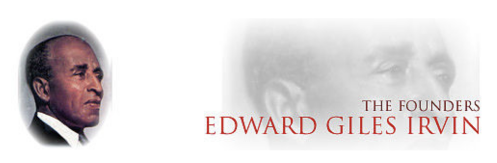 Edward Giles Irvin (1893-1982), born in Spencer, Indiana, on August 13, 1893, was graduated from Kokomo, Indiana High School in 1910 and entered the Indiana University the same year. After leaving school, he pursued a Journalistic career in various cities throughout the country until World War I.