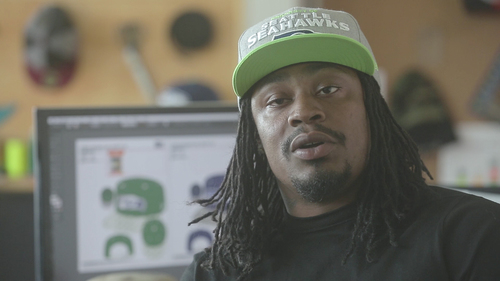 0cf998b7a MARSHAWN LYNCH  NEW ERA CAP DESIGN SESSION. COLIN KAEPERNICK  ...