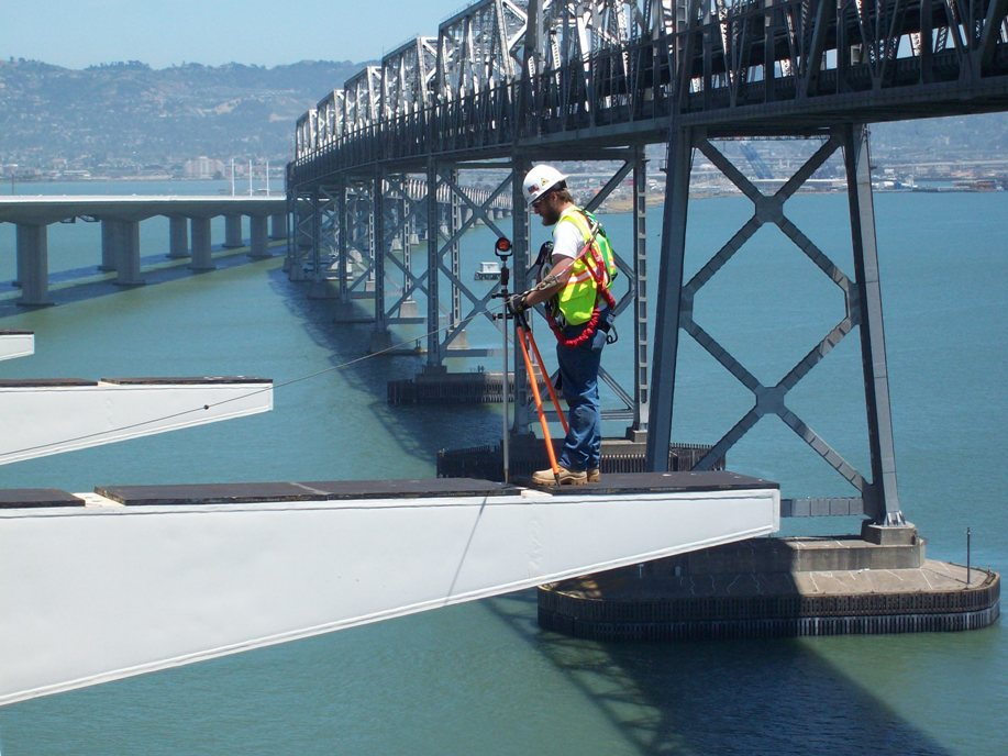 Surveying on the Bay Bridge