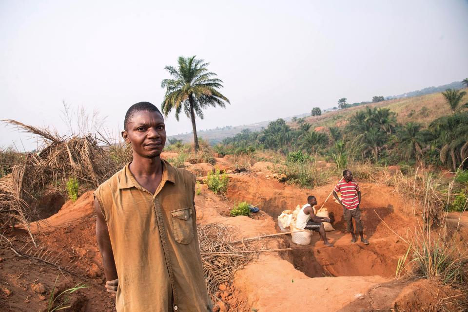 Diamond miner in Democratic Republic of Congo's central Kasai region. The flare-up in the Kasai region began in September 2016, a month after government forces killed tribal chief and militia leader Kamwina Nsapu, who had rebelled against President Joseph Kabila. The unrest has claimed more than 400 lives and forced some 1.3 million from their homes, according to the UN. Unconfirmed local statistics put the number of dead as high as 3,000. Due to the insecure situation following the death of Kamwina Nsapu, the mining of diamonds has come to a standstill. (JUNIOR D. KANNAH/AFP/Getty Images)