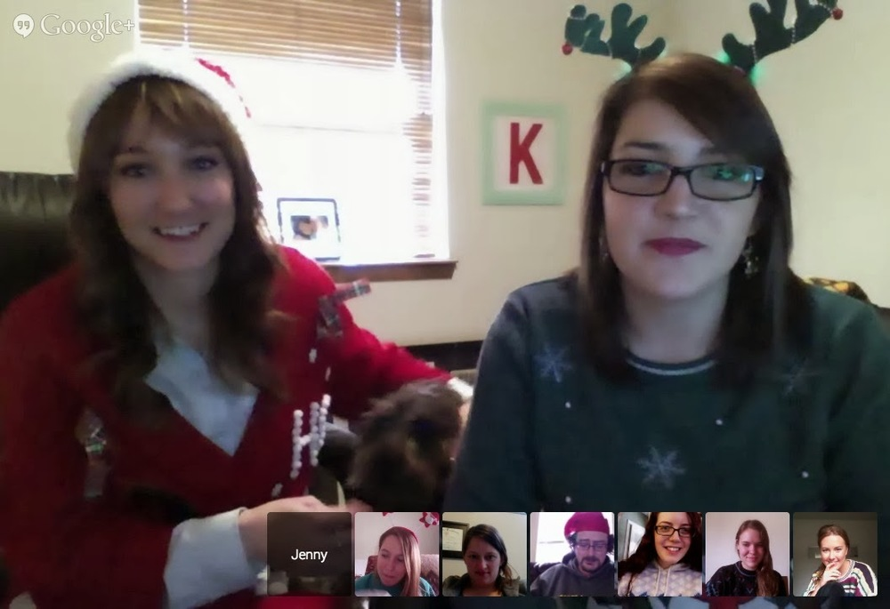 Sheri and Jenny on Google Hangouts