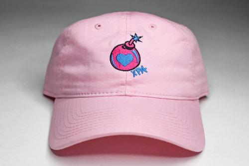 1cb7a214d84 Love Bomb Hat (Pink) — xavierperryart.com