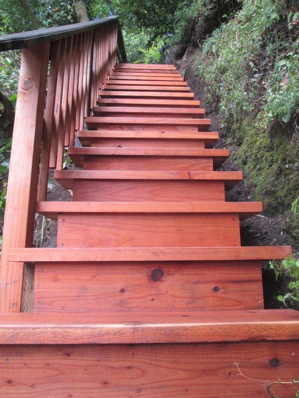 Rebuilt And Repurposed Steep Mountain Stairs