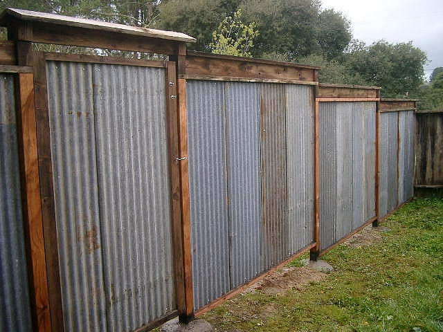 All Recycled Corrugated Metal Fence Lush Planet Design