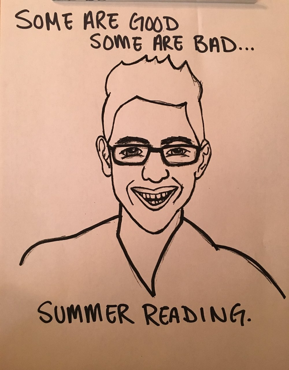 Summer Reading fan art by listener Katie Tedesco