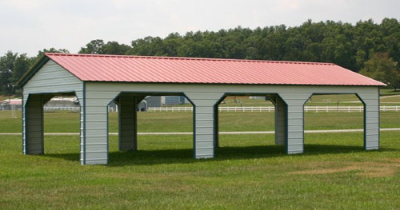 Integrity carports steel buildings for Triple carport prices