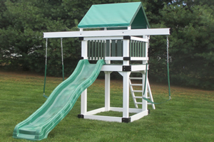 Cedar Built - Vinyl playset - Deluxe Tower #505.jpg