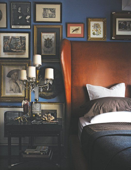 BEDROOM GALLERY WALL | antiques | via  Apartment Therapy