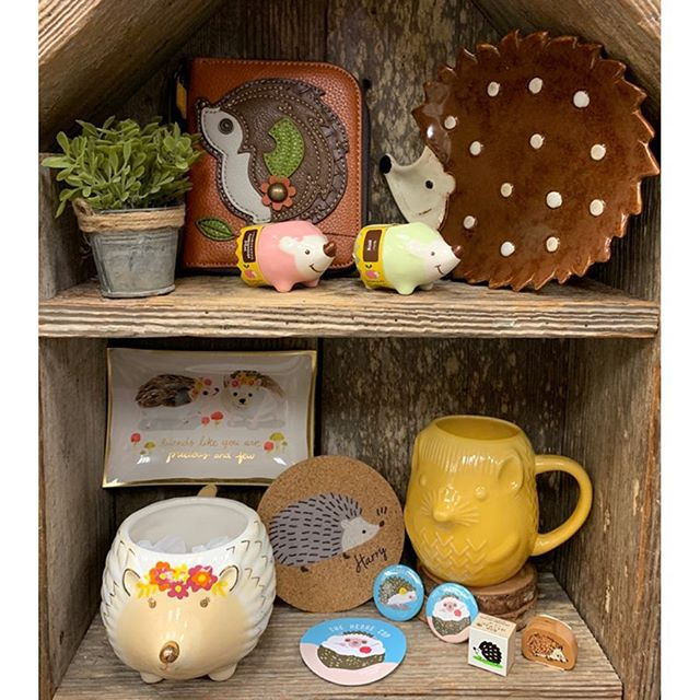 🏠 The hedgehog house 🦔 • • • #yanchako #worldbuyers #papersource #friendshill #chalahandbags #noted #nowdesigns #kodomonokao #pins #stickers #plates #mugs #stamps #rubberstamps #hedgehogs #trays #cute #kawaii #stationery