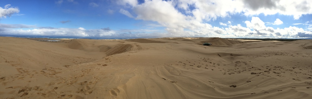 180° view from the top of the sand dunes