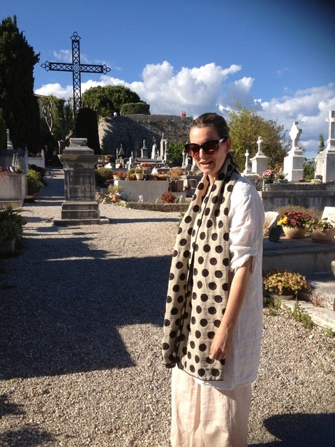At the cemetery in Saint-Paul-de-Vence.