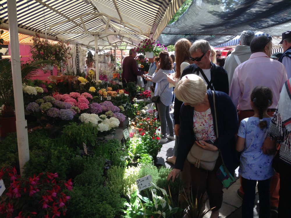 The Nice flower market