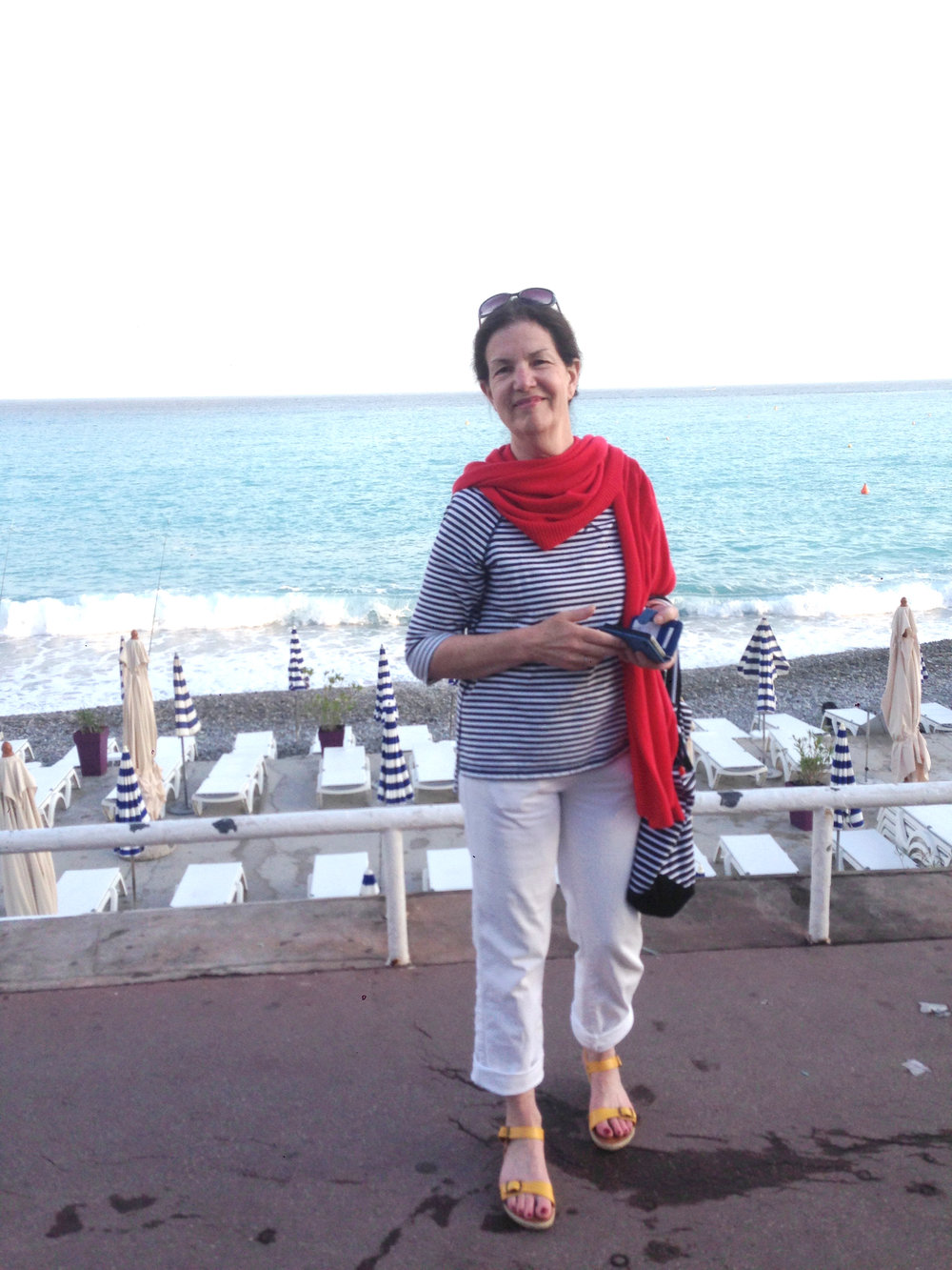 My mother along the Promenade des Anglais...and the illustrated version below.