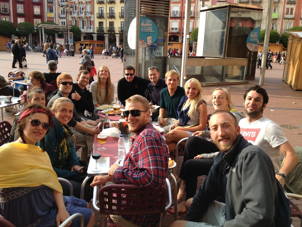 Camino life includes lively conversations on every topic. Respect for everyone's opinion is the key. And don't be surprised if pilgrims start showing off their blisters at the table.