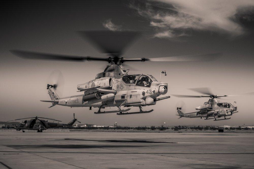AH-1Z Cobras & Mi-24 Hind