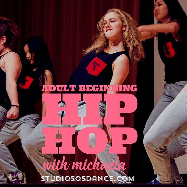 Adult Beginning Hip Hop with Michaela TODAY at 2:30 pm. No prior experience needed. Come ready to sweat and have fun! 😅💪👟 • • #studio505dance #fitnessforeveryone #danceforeveryone  #sfdanceclasses #sanfranciscodance #sanfranciscohiphop #inglesideheights #mercedheights #lakemerced #sfstate #oceanviewsf