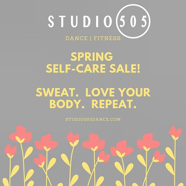 We want you to put yourself first this spring!  Now through April 30th, we're offering amazing deals on two different class packages:  10 classes for $99, or 5 classes for $59. Sign up on our website or in the mindbody app. 💛🌸💪🏽 • #studio505dance #selfcarespring #sanfranciscofitness #sanfranciscodance #danceandfitnessclasses #bayareadance #bayareafitness #loveyourbody