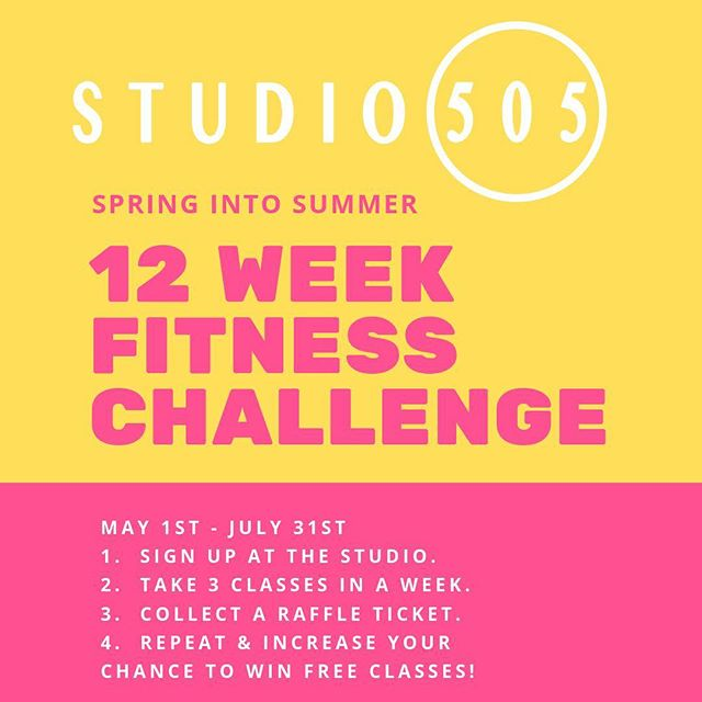 New challenge starts tomorrow!  Each time you take 3 classes in one week, you'll earn a raffle ticket. The more tickets you collect, the more chances to win! 🌸😅☀️ Sign up at the studio today! • #springintosummerchallenge #studio505dance #studiochallenge #fitnesschallenge #fitnessmotivation #danceandfitness