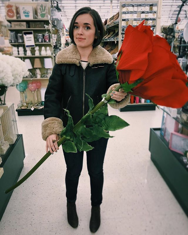 Ah yes, the weight of #valentines day. Will you accept THIS ROSE? A mighty rose of love to friends today; you have brought color, joy, and grounding to my life! And to family, for my cup that runneth over!