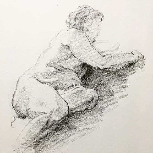 15 minutes study of Richard #artistsnetwork #figuredrawing #drawing #lifedrawing