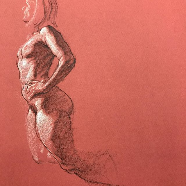 30 minute drawing of Ginger  #drawing #figuredrawing #art