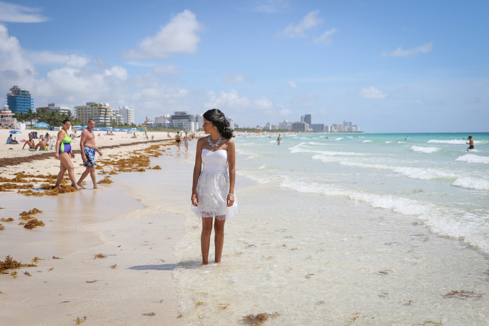 Fun and Lovely Quinceanera Session on Miami Beach | Nicole Wallace Photography
