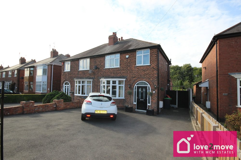 IT'S GONE! - £199,950 Main Road, Jacksdale, Nottinghamshire NG16 5HS 3 Bedroom Semi Detached - Offered through our partner agents love2moveBeautifully presented three bedroom semi detached home, with two receptions, shower room and family bathroom, plenty of off road parking and a rear garden overlooking the nature reserve. EPC rating D.