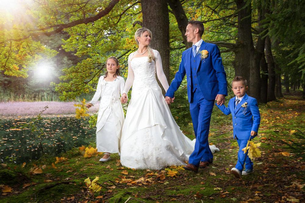 Brautpaar-Hochzeit-Natur