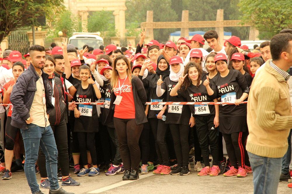 Start line of the Erbil Marathon