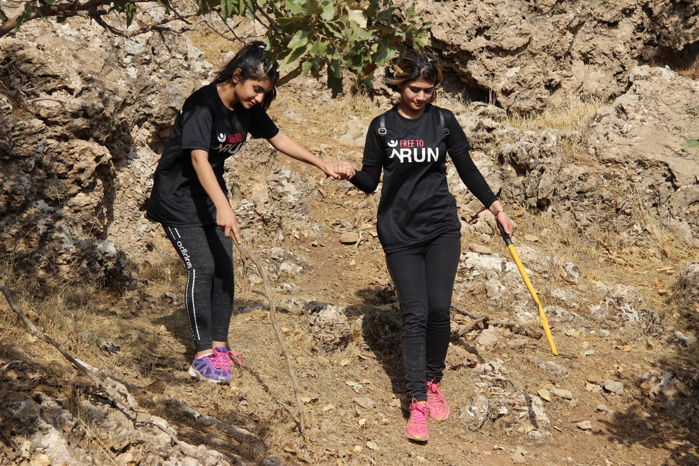 Hiking with the Free to Run Erbil team