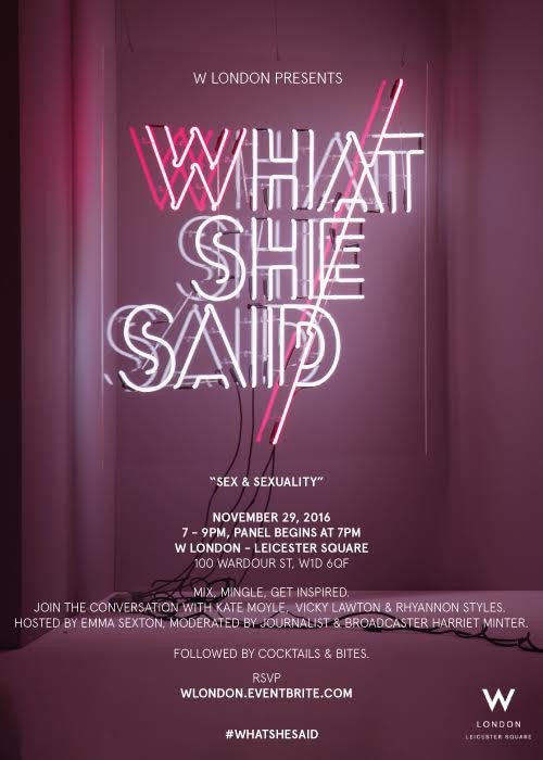 Kate as a Guest Panellist at #WhatSheSaid