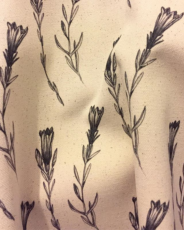 Have been experimenting with new techniques, different fabrics & just having a good old mess around. I'm loving this 100% organic half panama cotton I've been using with my new botanicals. It's speckles & imperfections are the perfect accent to the collection, plus its organic. Win, win.  #organic #fabric #happyearth #botanicals #new #collection #thoughts #techniques #textiles #print #pattern #natural #sustainable #monochrome #repeat #design #simplicity #interior #bespoke #digital #printing #eco #handdrawn #pencil #fine #liner #pen #drawing
