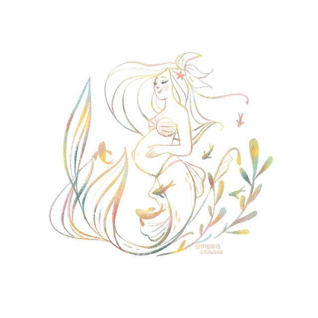 For expecting lovely mermaid mamas 💕 . I've added new mermaid drawings to my Etsy and some older prints back by popular requests. Thank you all so much! I've added link in my profile. 💛 . . . . . . . #glow #growinglove #expecting #mermaidmom #pregnantmermaid #mermaidart #mermay #mermay2018 #illustratorsoninstagram #parenthoodunderthesea #momisdrawing