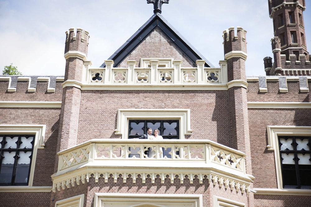 trouwfoto kasteel trouwauto bruidsfoto's trouwfotograaf