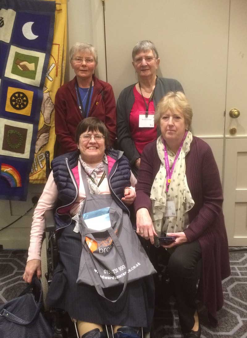 Back row, l-r Ann Sinclair and Ann Peart. Front row, l-r Jane Aaronson and Joan Cook.