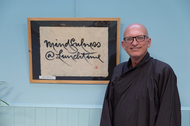 Posted on Bodhi Wheel by Br Phap Vu  You know you are in Edinburgh when you attend   Mindfulness@Lunchtime   at St. Mark's Unitarian Church. Every Tuesday for about the past ten to fifteen years urban dwellers of Edinburgh (Edinburghers) have had the opportunity to stop and enjoy a bit of mindful practice during lunchtime. The weekly event is a collaboration of the Wild Geese Sangha in the tradition of Plum Village and the Unitarian Congregation of Edinburgh, and of course the lunchtime practice is open for anyone who is interested.  Knowing that I was going to be in the area, Jon Bagust, the creator and facilitator of  Mindfulness@Lunchtime , asked if I would be willing to facilitate a session. I had facilitated once before a few years ago at the invitation of Jon and knew what a terrific event it is – how could I refuse.  Between 12:30 and 2:00 every Tuesday the doors of St. Mark's is open for a schedule of mid-day practice. One just needs to bring their lunch and their mindfulness. The Lunchtime event begins with sitting mediation and walking meditation from 12:30 to 1:15. At 1:15 to 1:40 there is eating meditation in silence. After the meal at 1:40 to 2:00 there is another session of sitting meditation. What makes this schedule so accessible to the urbanites of Edinburgh is, I believe, two things; first, it is in the heart of Edinburgh; second, you don't have to attend the whole thing.  The Mindful Lunchtime  schedule is set up so that anyone can join in at any of the practices. If you can't make the sitting, fine, join in for the meal. If you can't stay after the meal, great, enjoy the rest of your day.  I think that  Mindfulness@Lunchtime  must be one of the great secrets of our time because I am really surprised that this idea and expression of the practice hasn't spread to other urban areas. In any event, the idea and the mindful energy of  Mindful Lunch  is there for you to eat up – bon appetite!