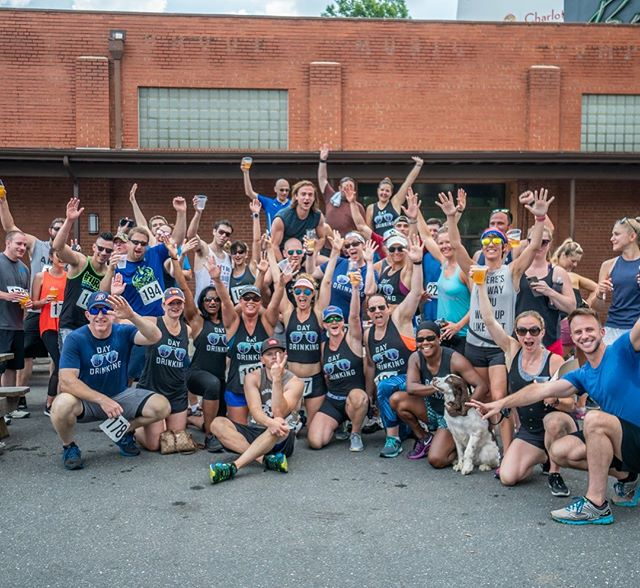 We started Saturday morning taking a shot at the @sweatnetclt #beermile @legionbrewing 🏃‍♀️🍺 be on the lookout for the next event! #workhardplayhard #cltfitlife #cltfitness #sweatnetclt #run