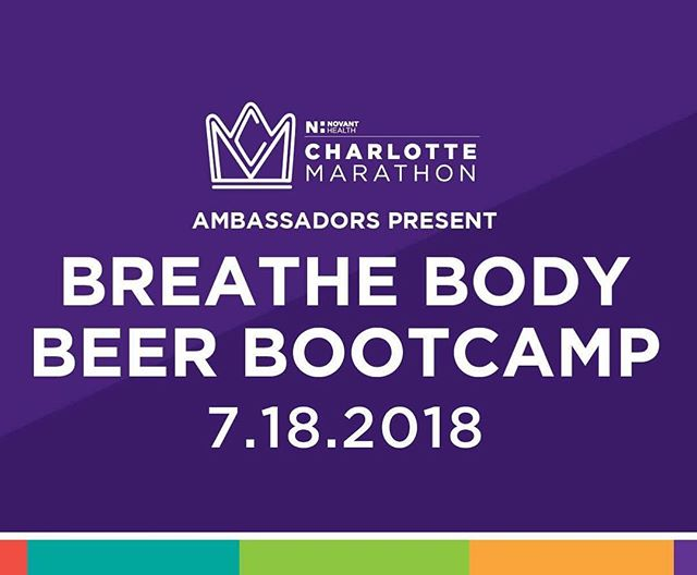 Join us and the @charlottemarathon this Wednesday at 6:30 PM @catawbabrewing_clt  @gucciwills will lead a 10 minute yoga based warm up, followed by a 30 minute strength and conditioning circuit led by @jen.w.dufresne and concluded with a yoga based cool down. $15 drop in gets you a pint sized beer and workout. PS we are giving away one free race entry to the #cltmarathon AND anyone who signs up gets a free #Charlotte #marathon shirt!! Cash, check, Venmo, PayPal accepted at the door! #cltfitlife #cltfitness #yoga #stretch #ewpclt #cltbreweries