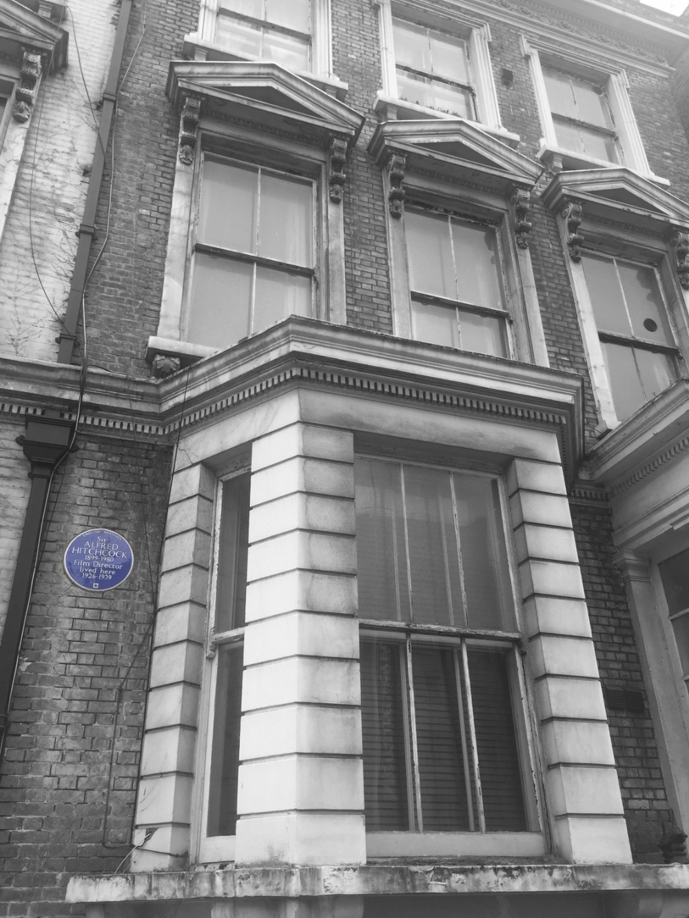 Alfred Hitchcock's former creepy house in Kensington, London.